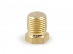 Pipe Plug, Brass, 1/2in. (M)NPT, Hex Head